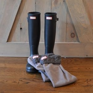 Hunter Tall Rain Boots with Rain Boot Socks